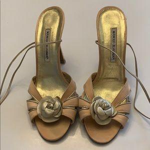 Manolo Blahnik heels 39.5 well loved condition.